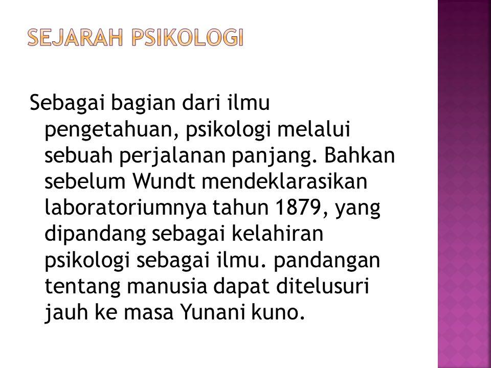 Sejarah Psikologi