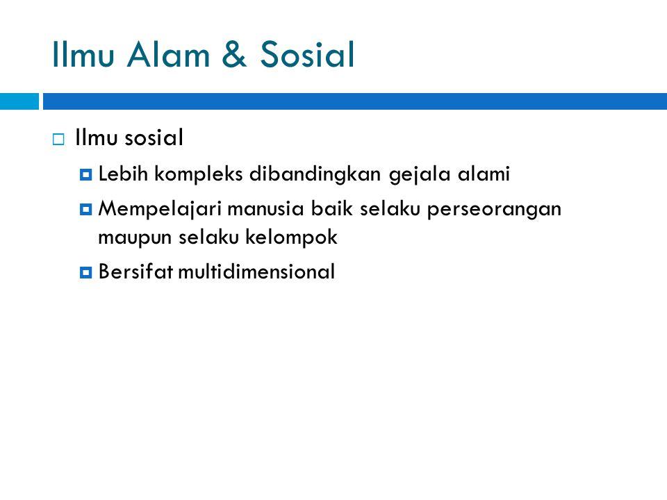 Ilmu Alam & Sosial Ilmu sosial