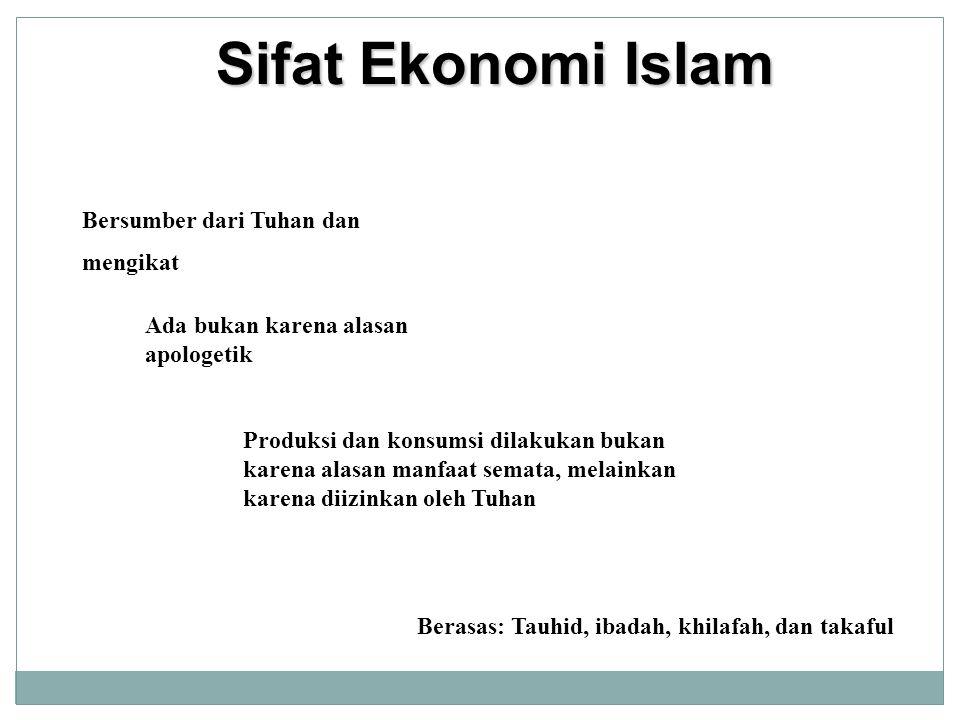 Sifat Ekonomi Islam Bersumber dari Tuhan dan mengikat