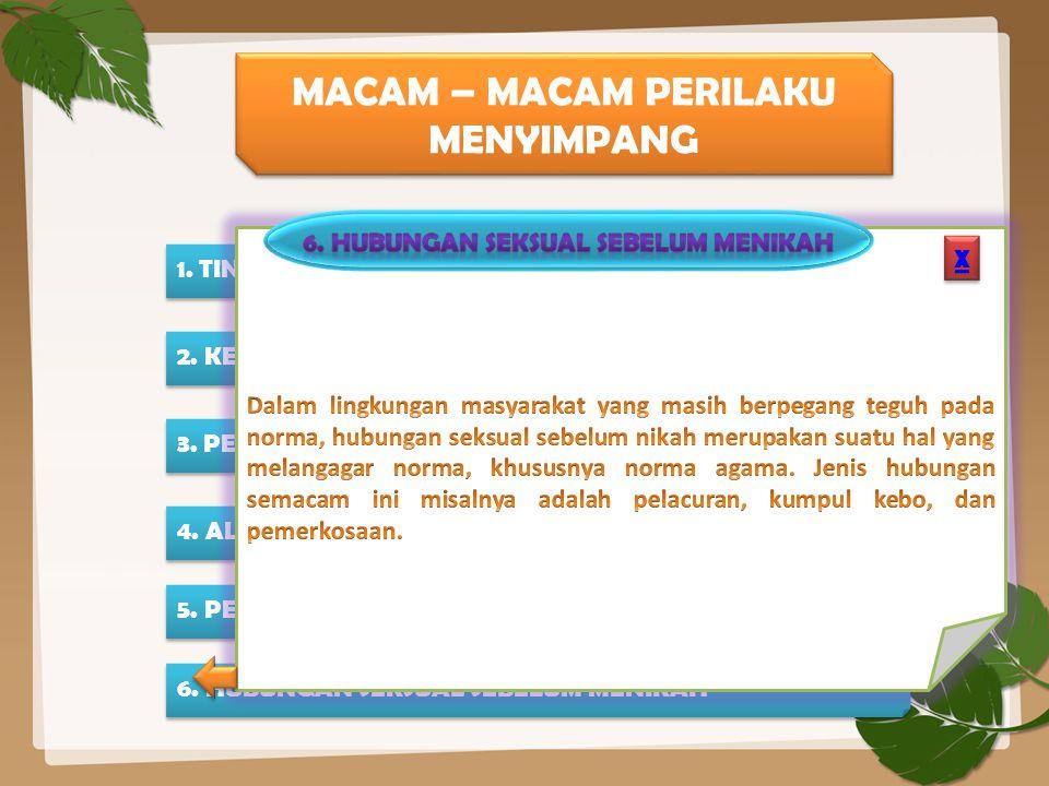 6. HUBUNGAN SEKSUAL SEBELUM MENIKAH