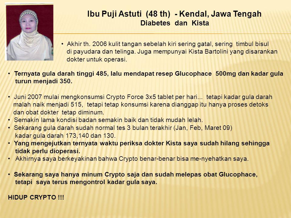 Ibu Puji Astuti (48 th) - Kendal, Jawa Tengah