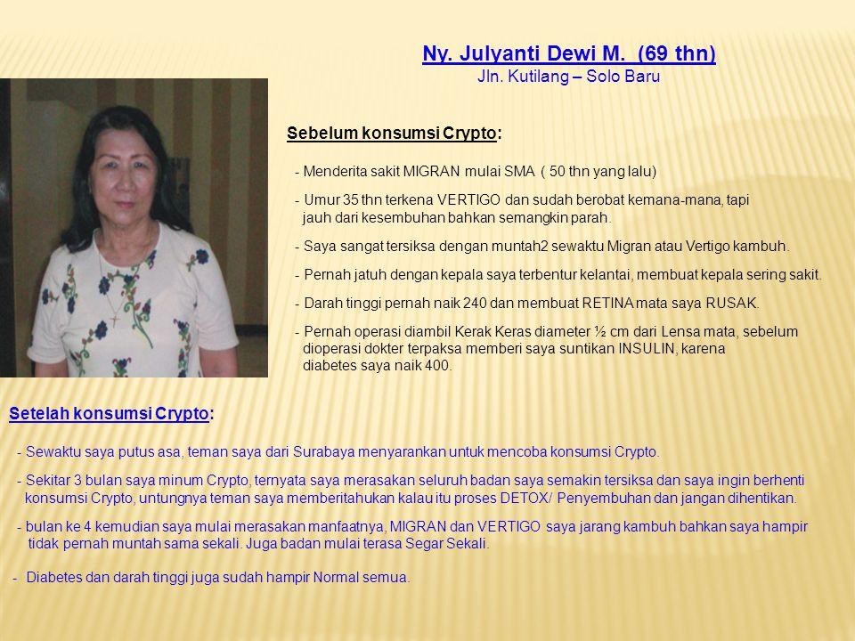 Ny. Julyanti Dewi M. (69 thn)