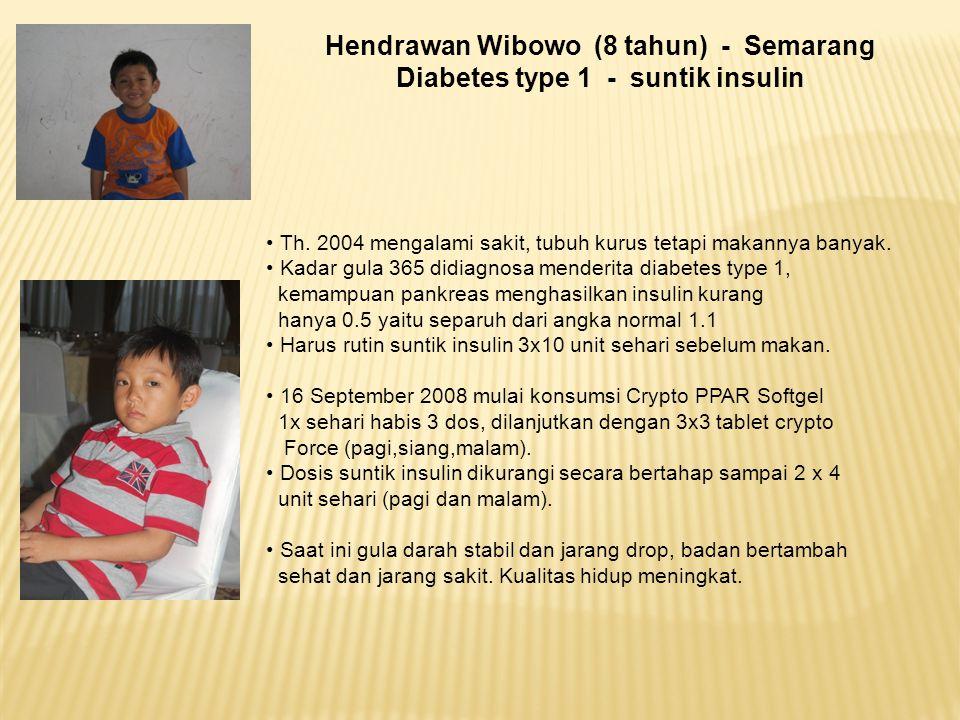 Hendrawan Wibowo (8 tahun) - Semarang Diabetes type 1 - suntik insulin