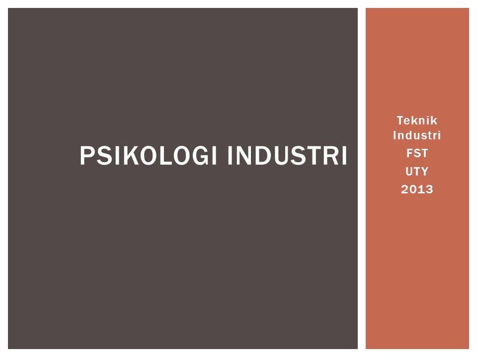 Teknik Industri FST UTY 2013