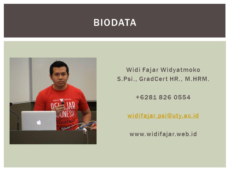 Biodata Widi Fajar Widyatmoko S.Psi., GradCert HR., M.HRM.
