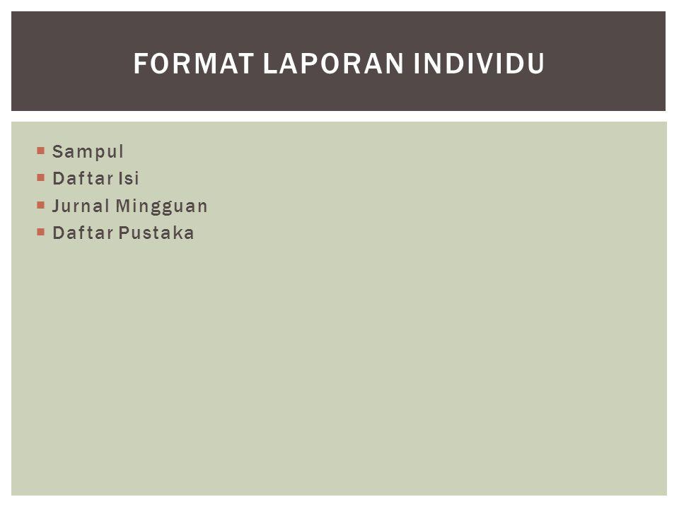 Format Laporan Individu