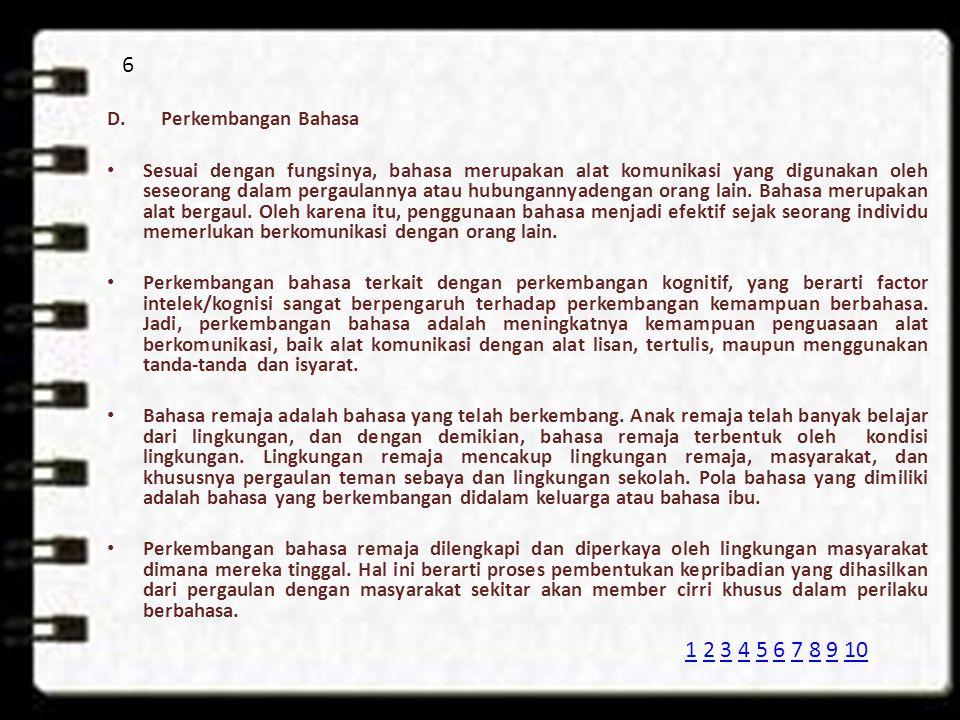6 Perkembangan Bahasa.