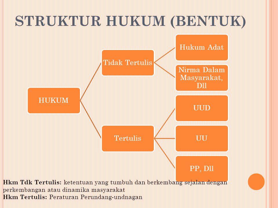 STRUKTUR HUKUM (BENTUK)