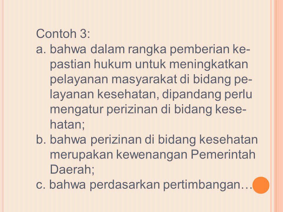 Contoh 3: a.