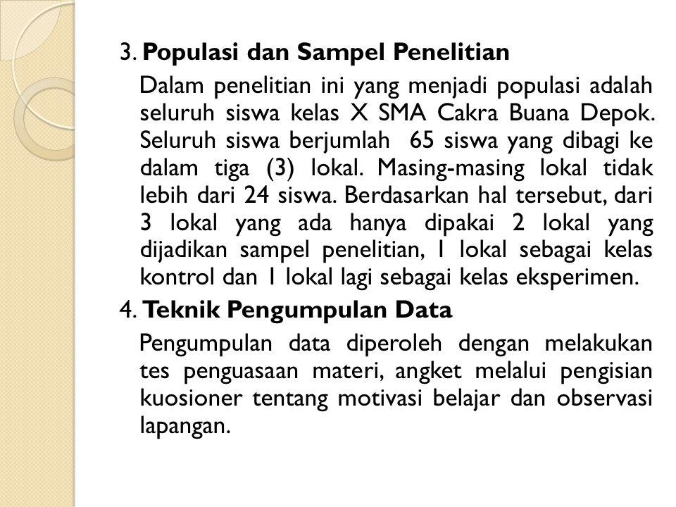 3. Populasi dan Sampel Penelitian