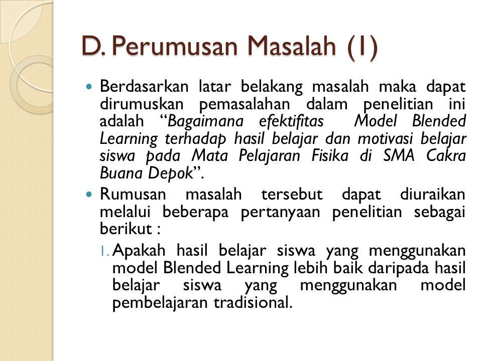 D. Perumusan Masalah (1)
