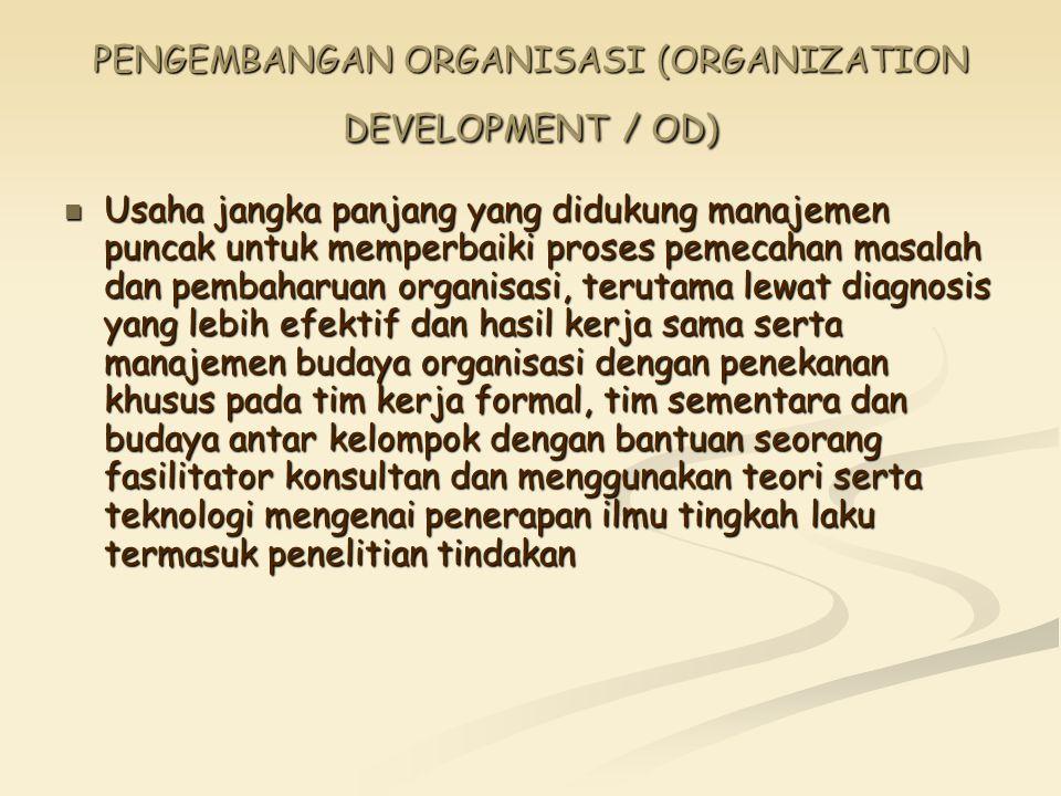 PENGEMBANGAN ORGANISASI (ORGANIZATION DEVELOPMENT / OD)