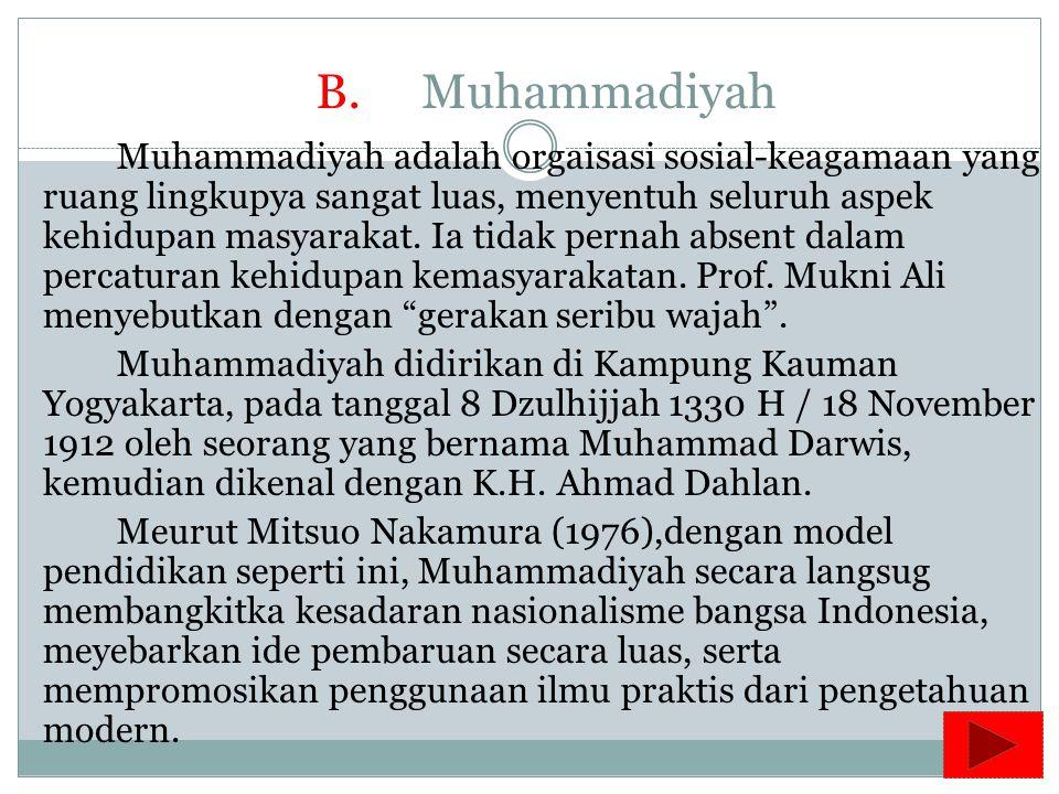 B. Muhammadiyah