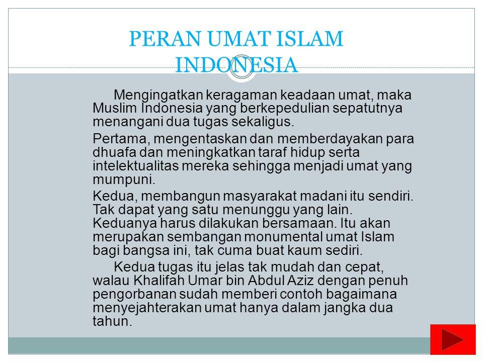 PERAN UMAT ISLAM INDONESIA