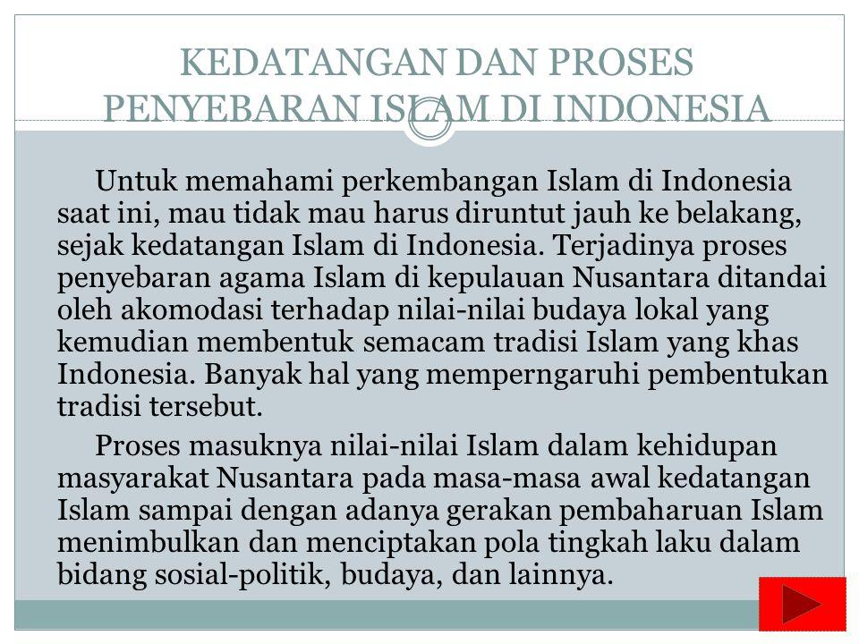KEDATANGAN DAN PROSES PENYEBARAN ISLAM DI INDONESIA