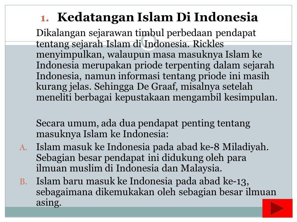 Kedatangan Islam Di Indonesia