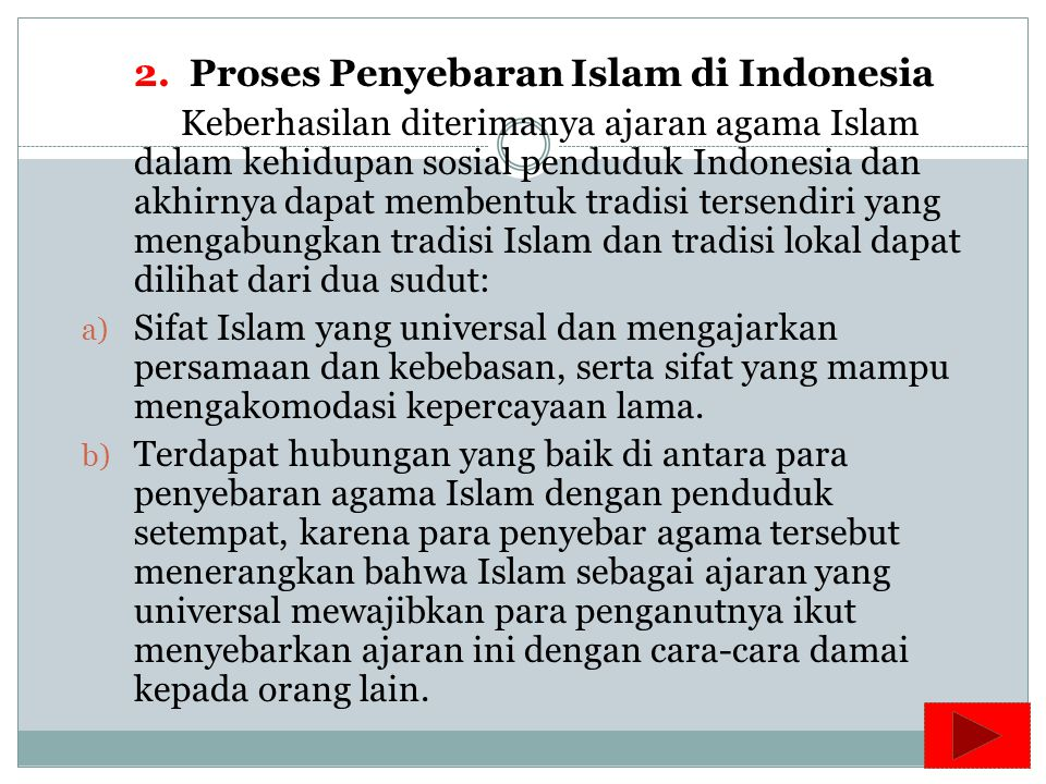 2. Proses Penyebaran Islam di Indonesia