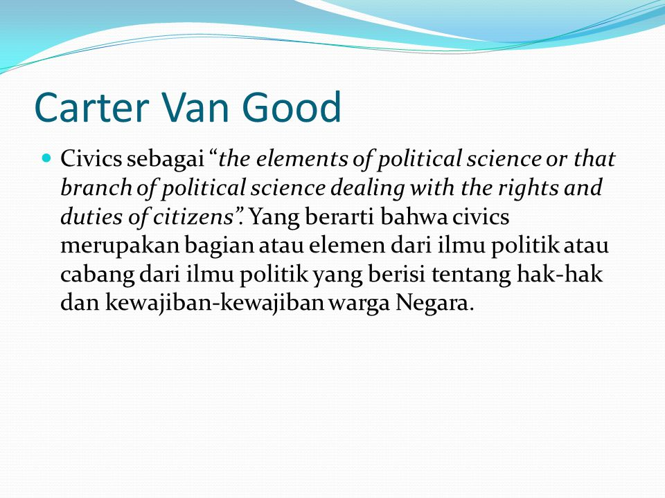 Carter Van Good