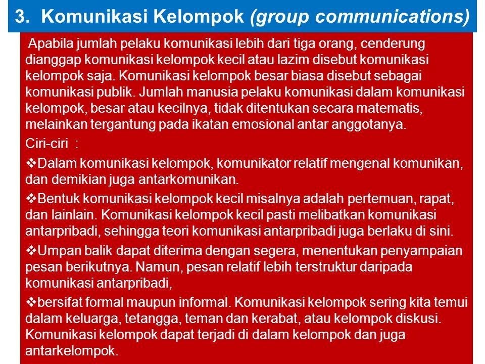 3. Komunikasi Kelompok (group communications)