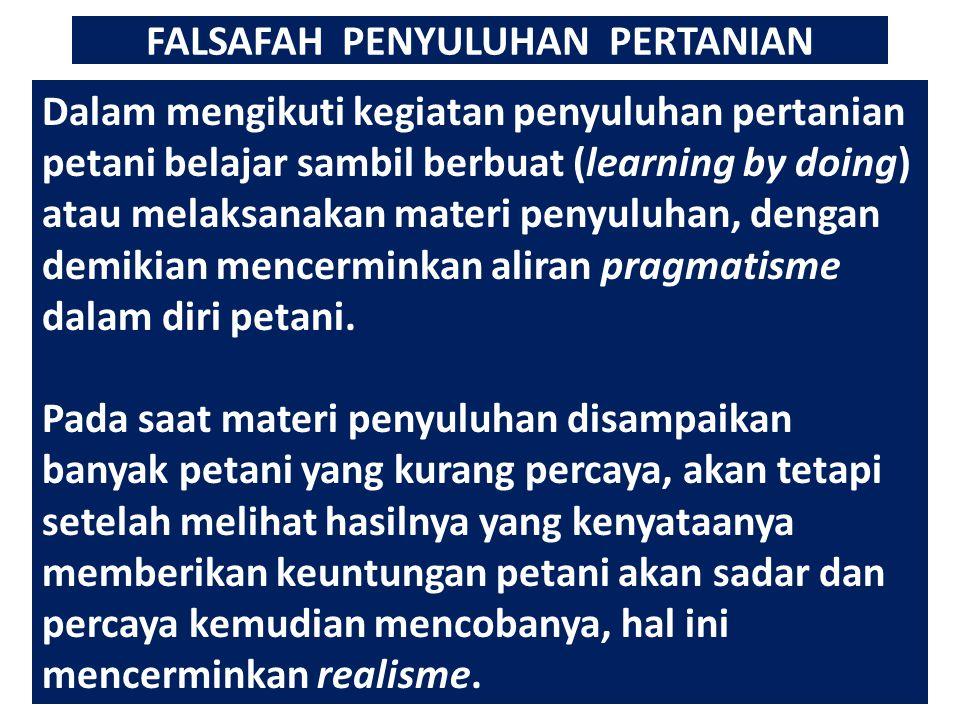 FALSAFAH PENYULUHAN PERTANIAN