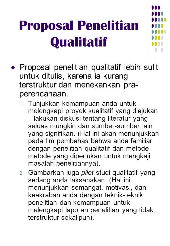 Proposal Penelitian Qualitatif