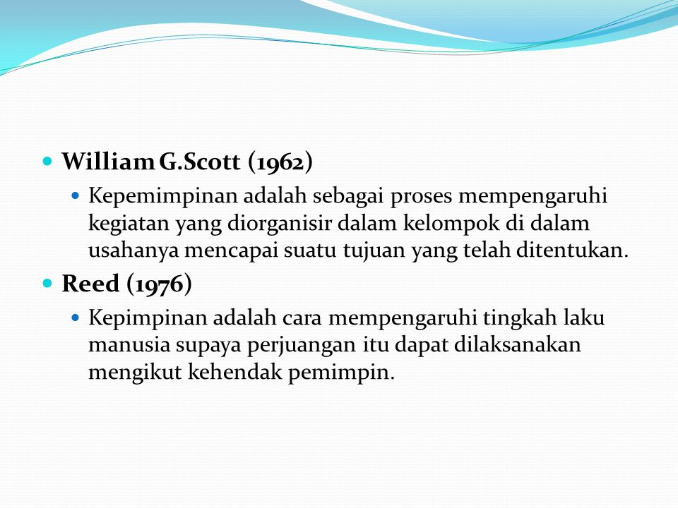 William G.Scott (1962) Reed (1976)