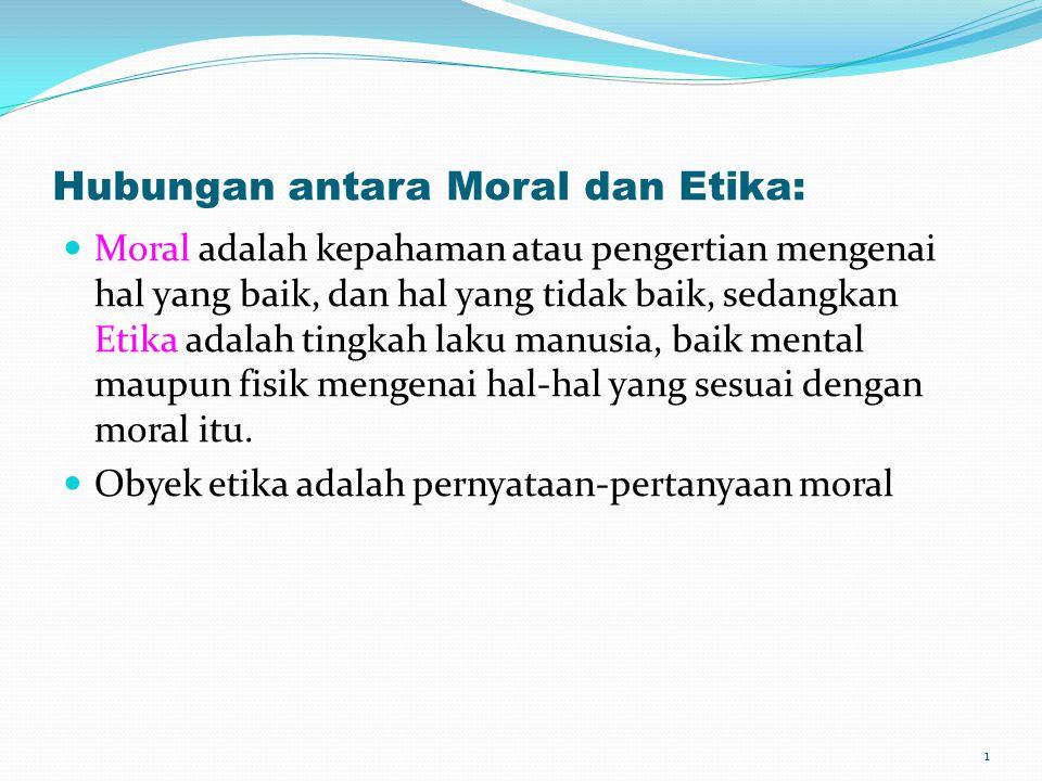 Hubungan antara Moral dan Etika: