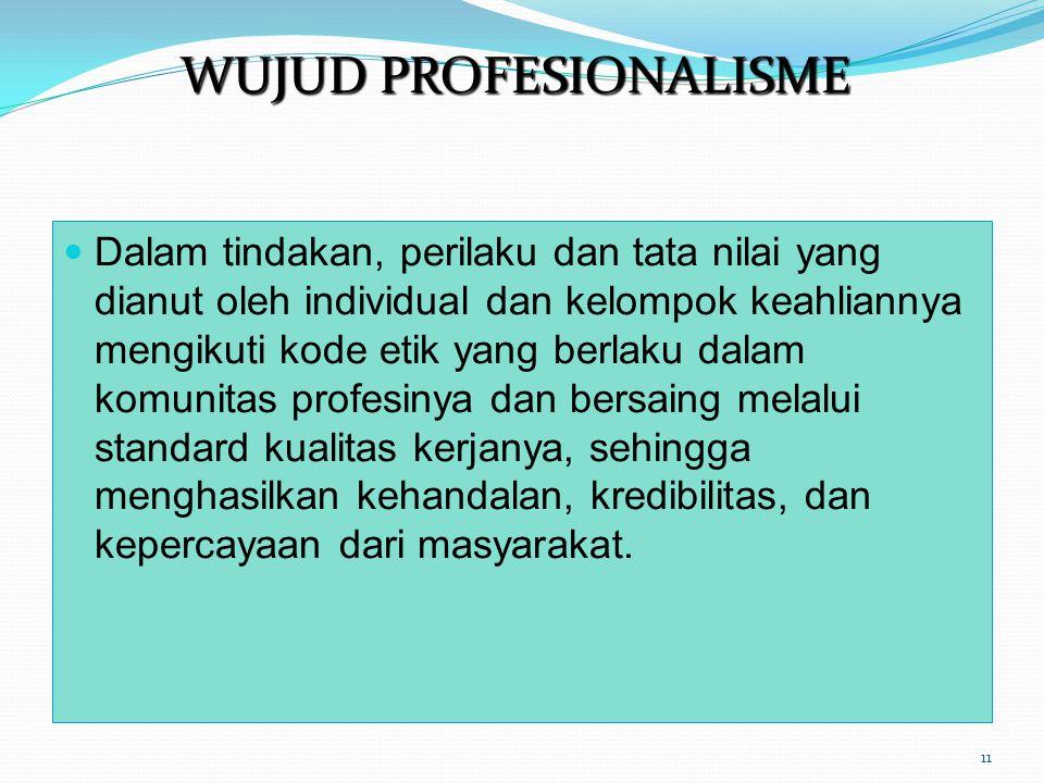 WUJUD PROFESIONALISME