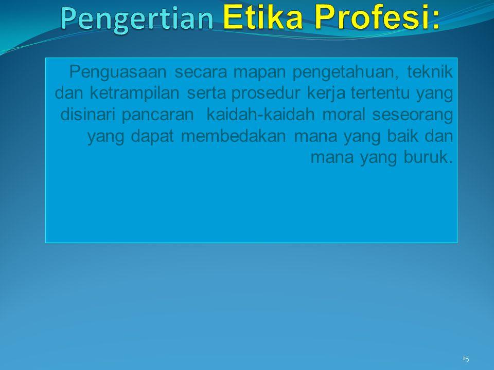 Pengertian Etika Profesi: