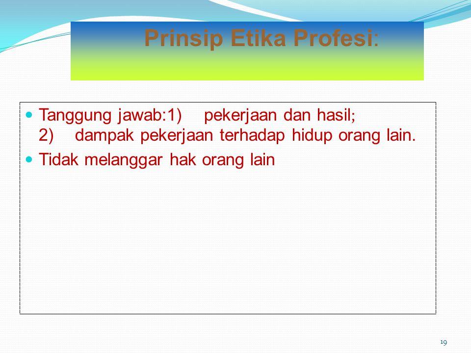 Prinsip Etika Profesi: