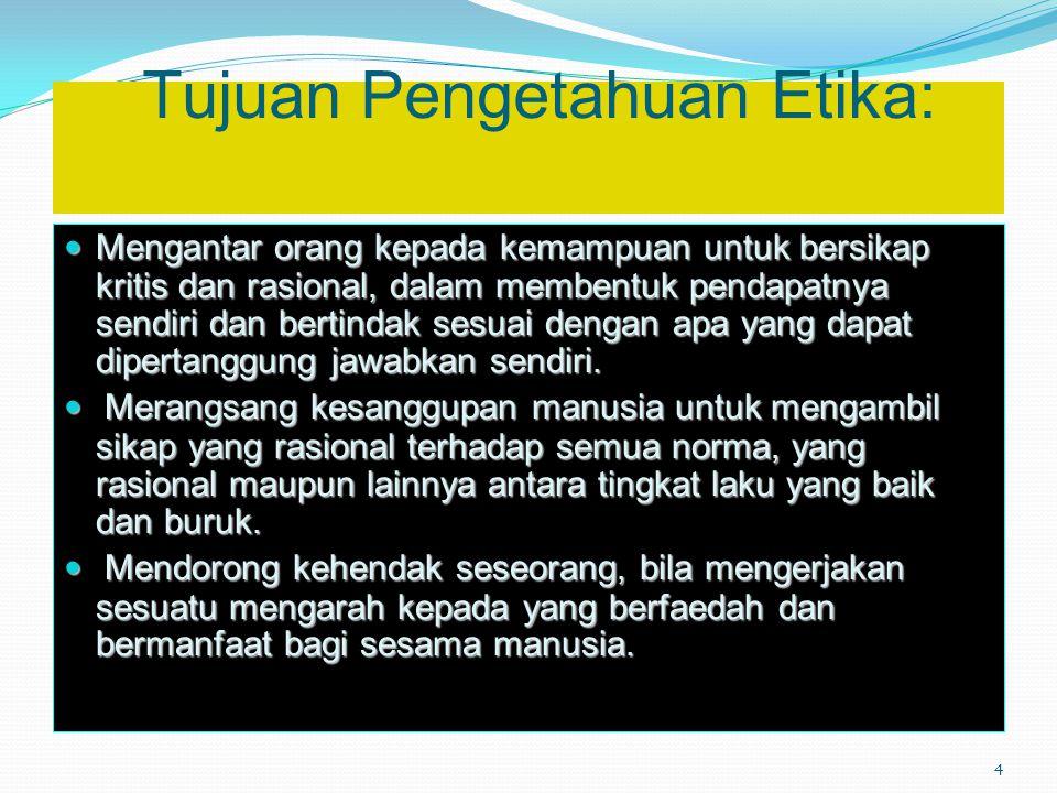 Tujuan Pengetahuan Etika: