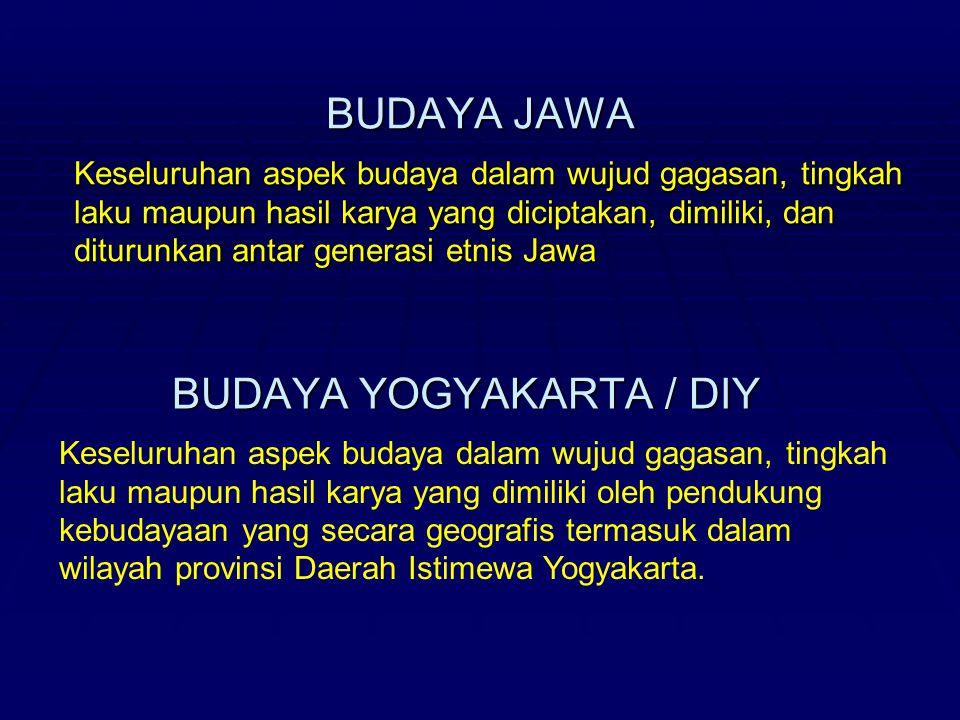 BUDAYA YOGYAKARTA / DIY