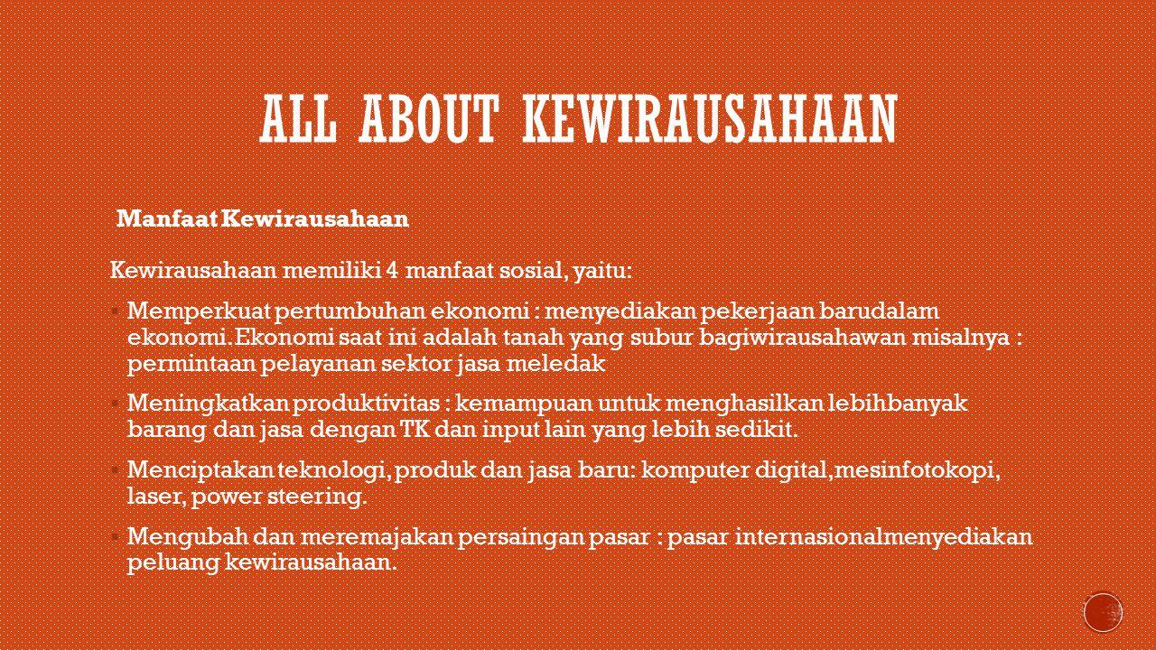 ALL ABOUT KEWIRAUSAHAAN