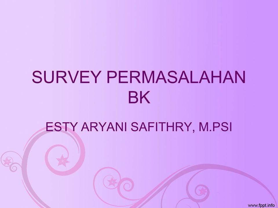 SURVEY PERMASALAHAN BK