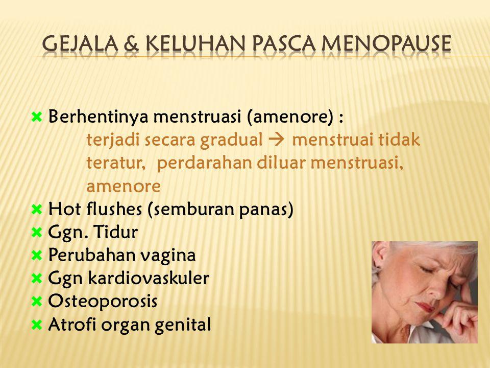 Gejala & Keluhan pasca Menopause