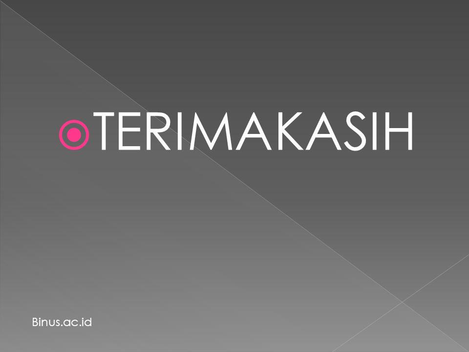 TERIMAKASIH Binus.ac.id