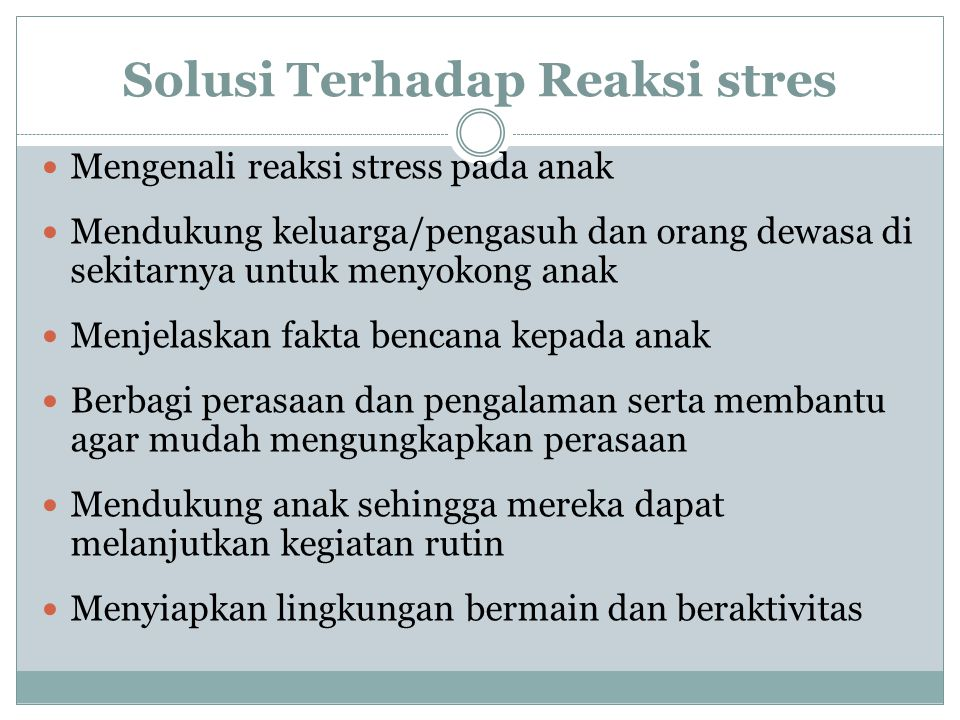 Solusi Terhadap Reaksi stres