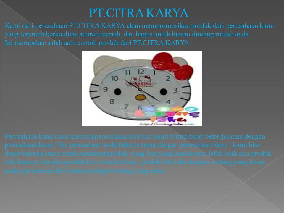 PT.CITRA KARYA