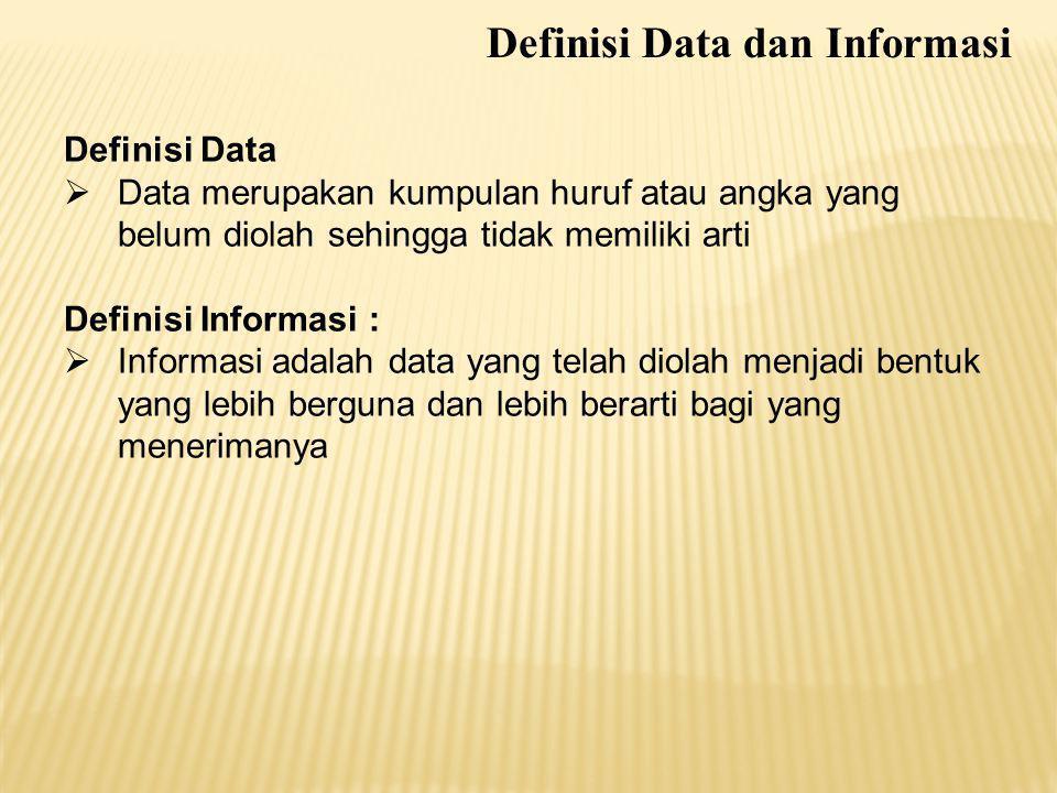 Definisi Data dan Informasi