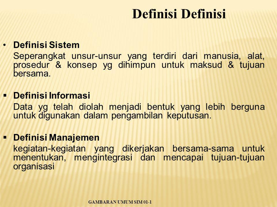Definisi Definisi Definisi Sistem