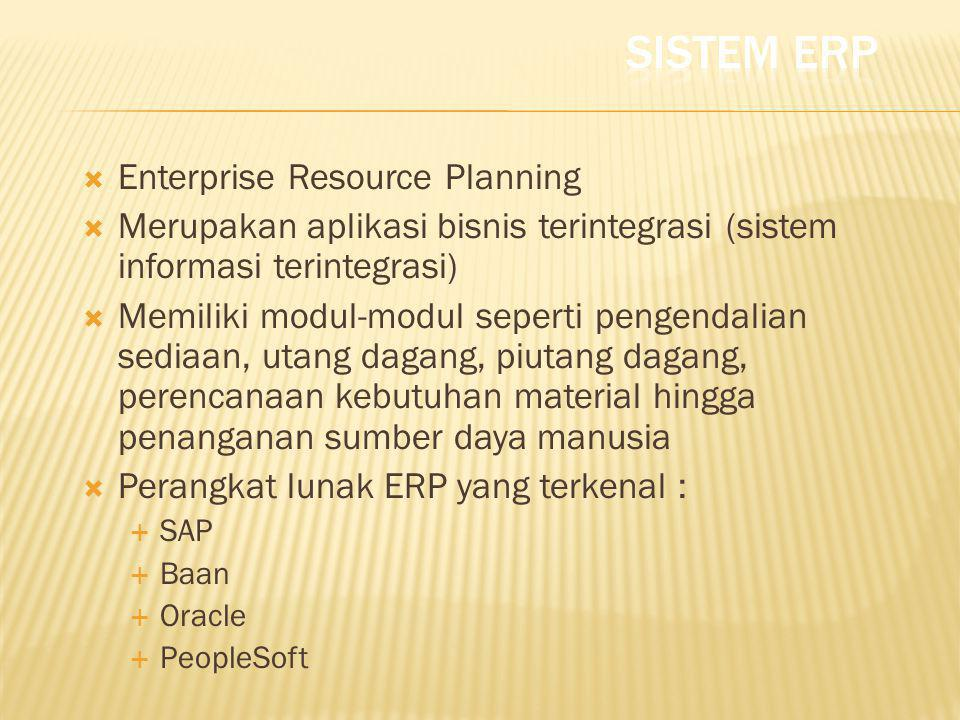 Sistem ERP Enterprise Resource Planning