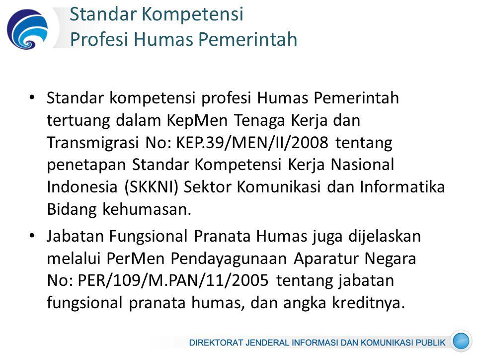 Standar Kompetensi Profesi Humas Pemerintah