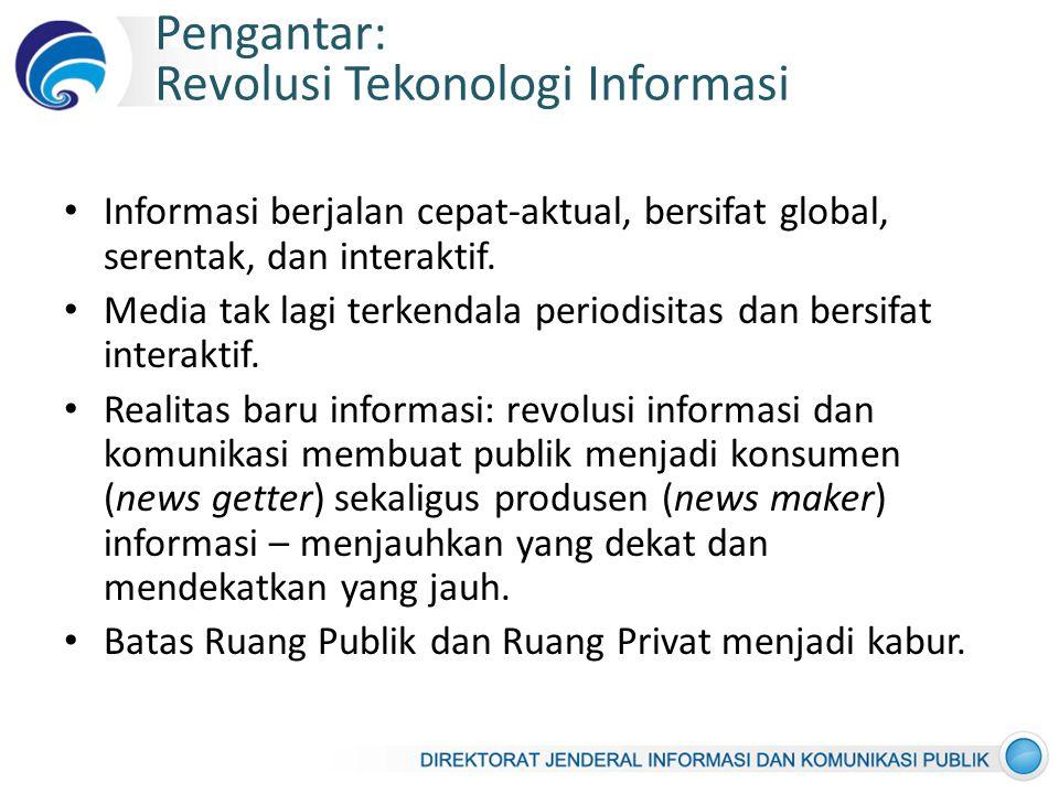 Pengantar: Revolusi Tekonologi Informasi
