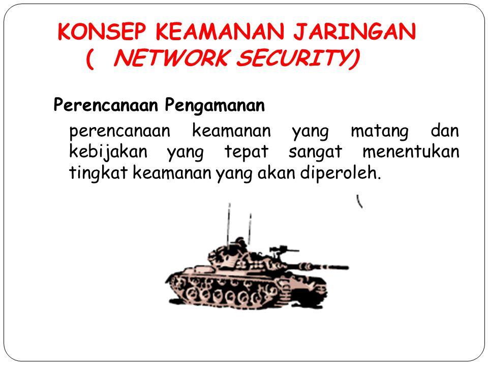 KONSEP KEAMANAN JARINGAN ( NETWORK SECURITY)