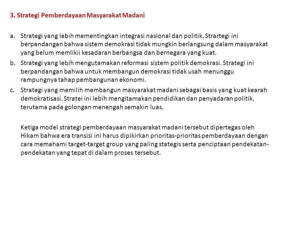 3. Strategi Pemberdayaan Masyarakat Madani