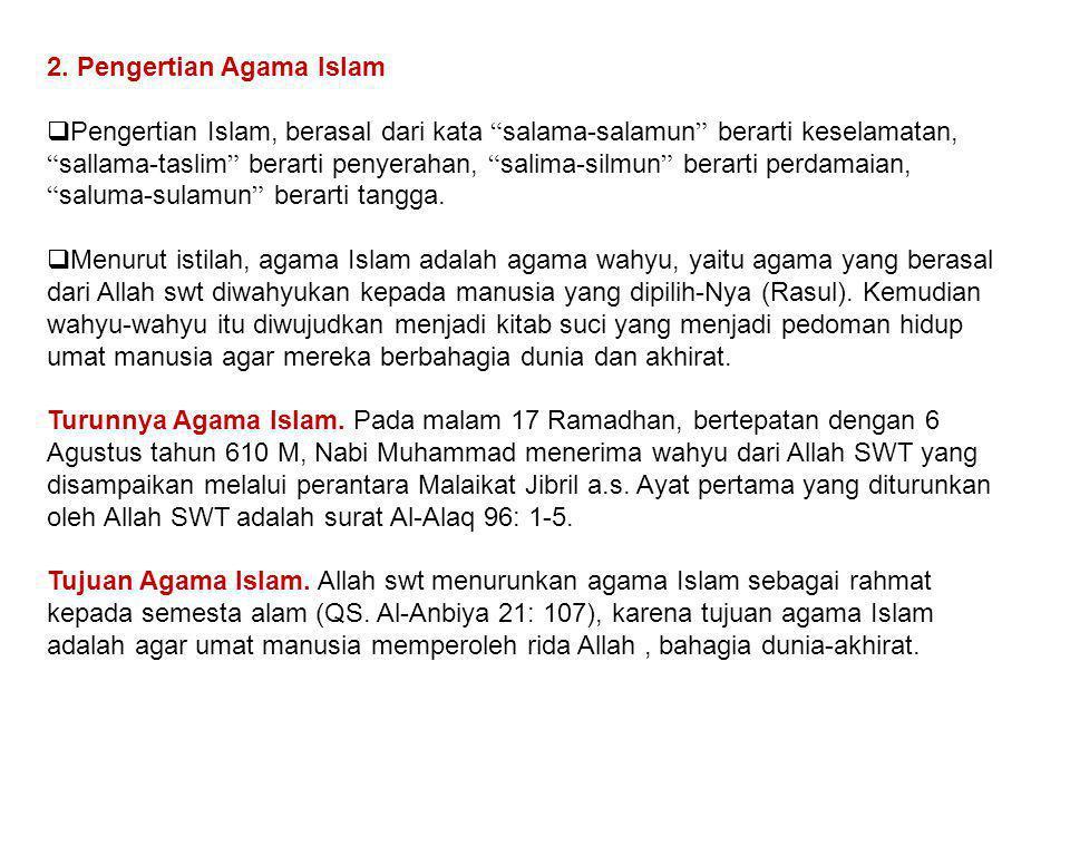 2. Pengertian Agama Islam