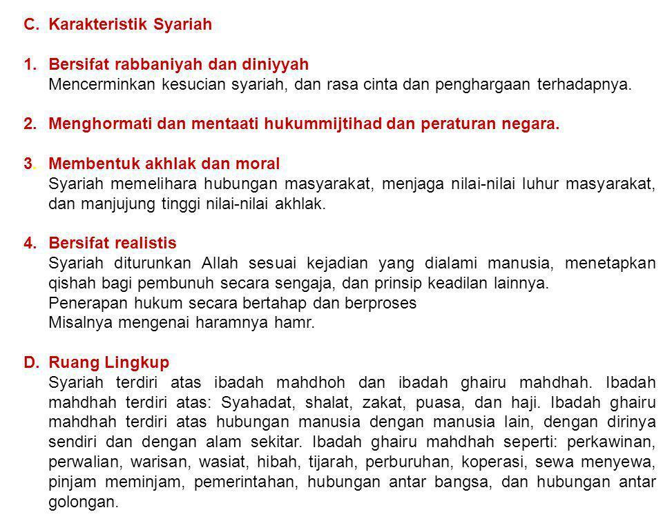 C. Karakteristik Syariah