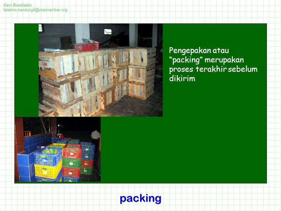 Kawi Boedisetio telebiro.bandung0@clubmember.org. Pengepakan atau packing merupakan proses terakhir sebelum dikirim.