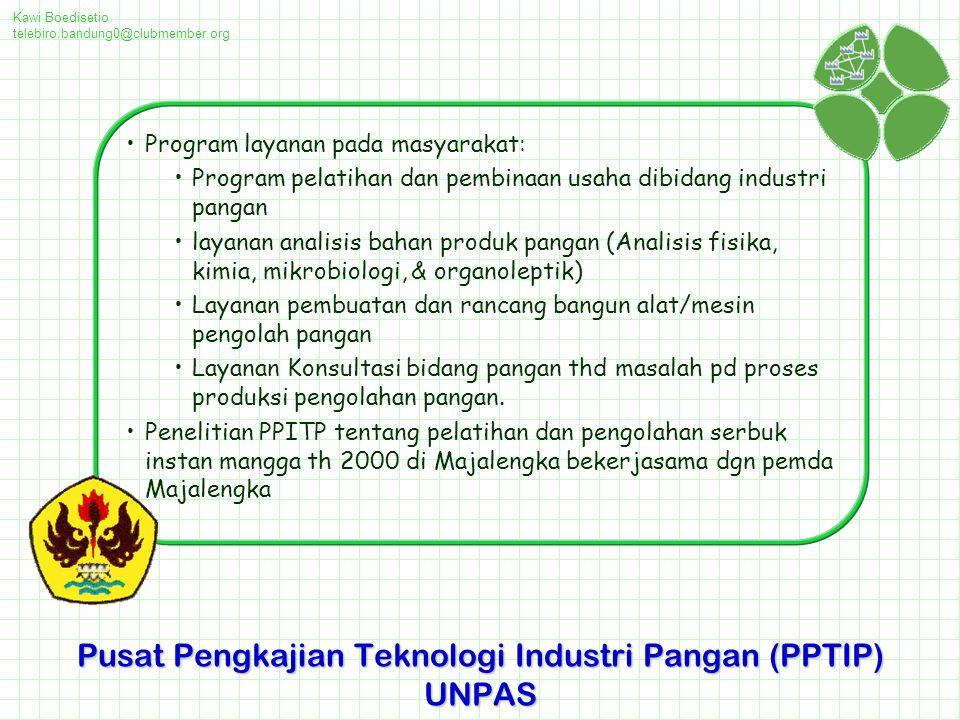 Pusat Pengkajian Teknologi Industri Pangan (PPTIP) UNPAS
