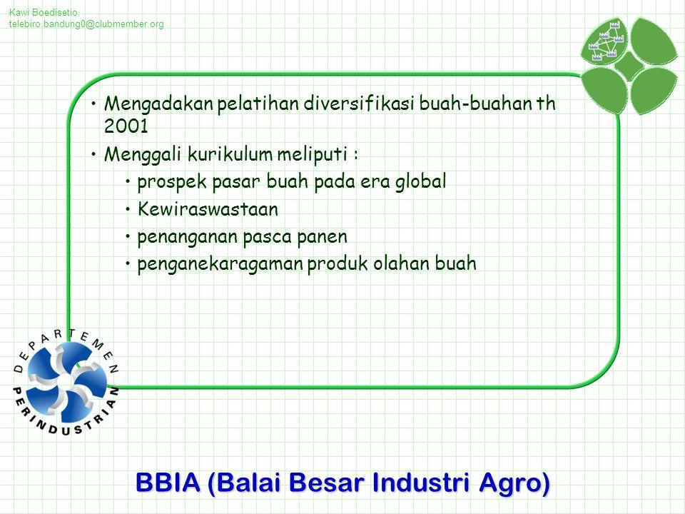 BBIA (Balai Besar Industri Agro)